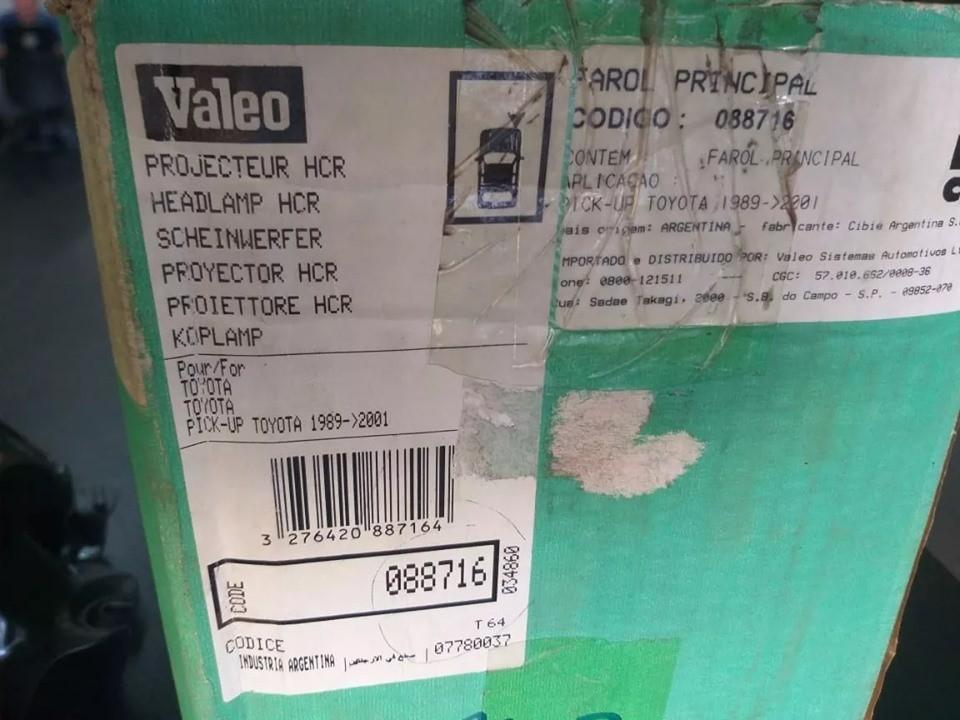 Farol Direito Hilux Srs 89/01 L200 92/98 L300 95/99 Cibié