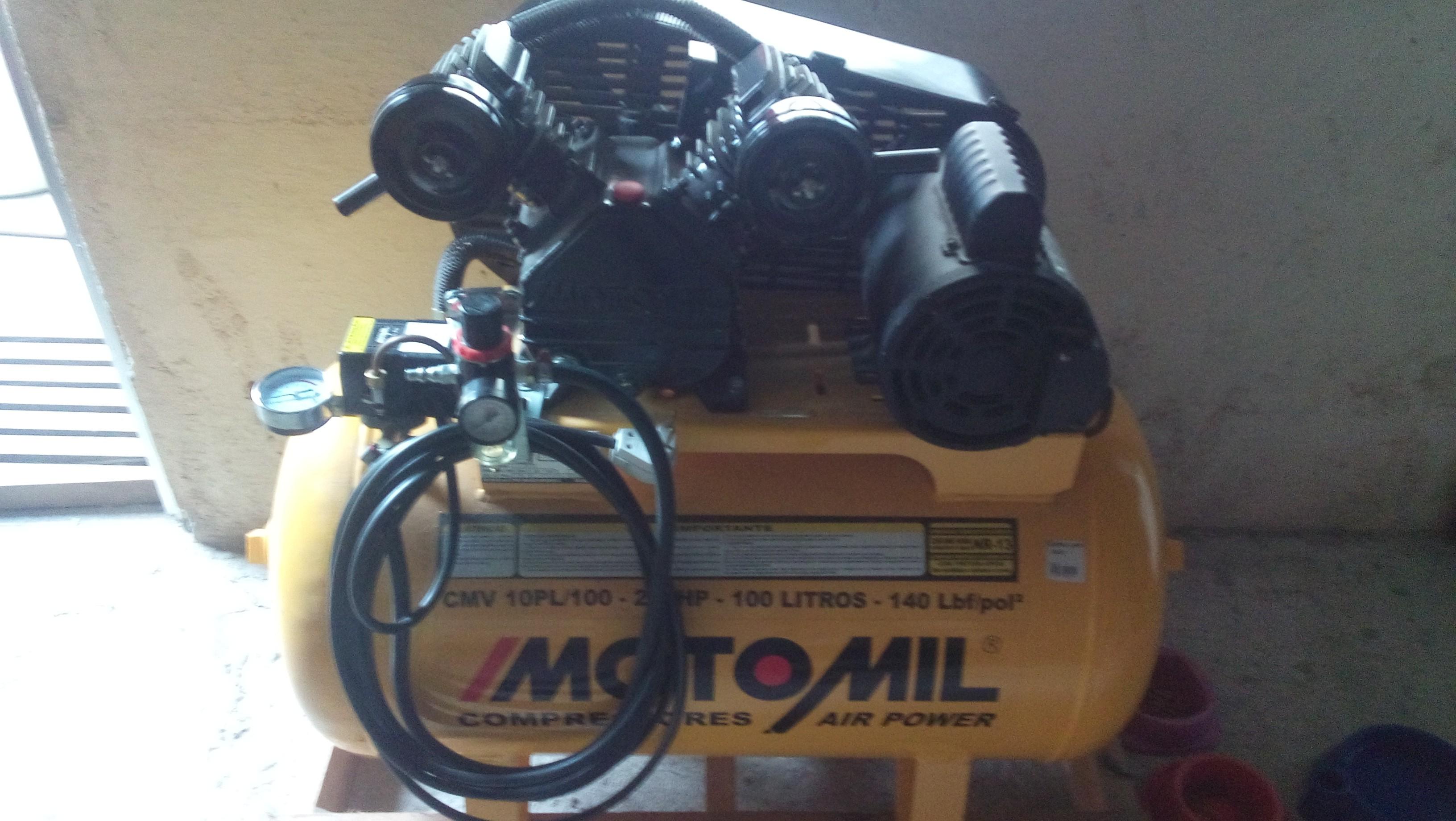 Compressor de ar completo pronto pra trabalhar ok.