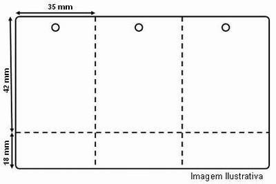 05 Rolos de  Etiquetas Tag p/ Roupas, Confecções, Preços, Codigo de Barras, p/ impressoras: ZEBRA, ARGOX, ELGIN e OUTRAS C/ RIBBOM.