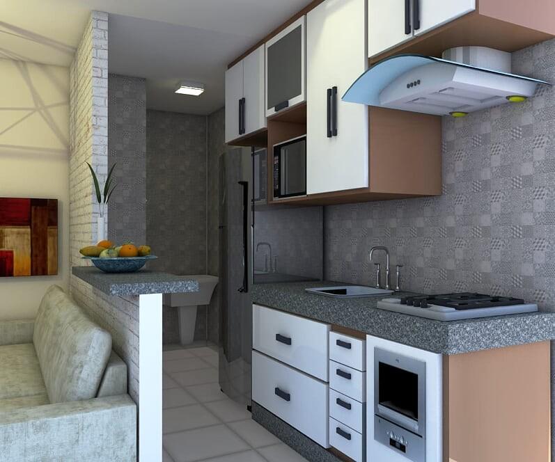 (K.A( a partir de R$190,000 com cozinha americana