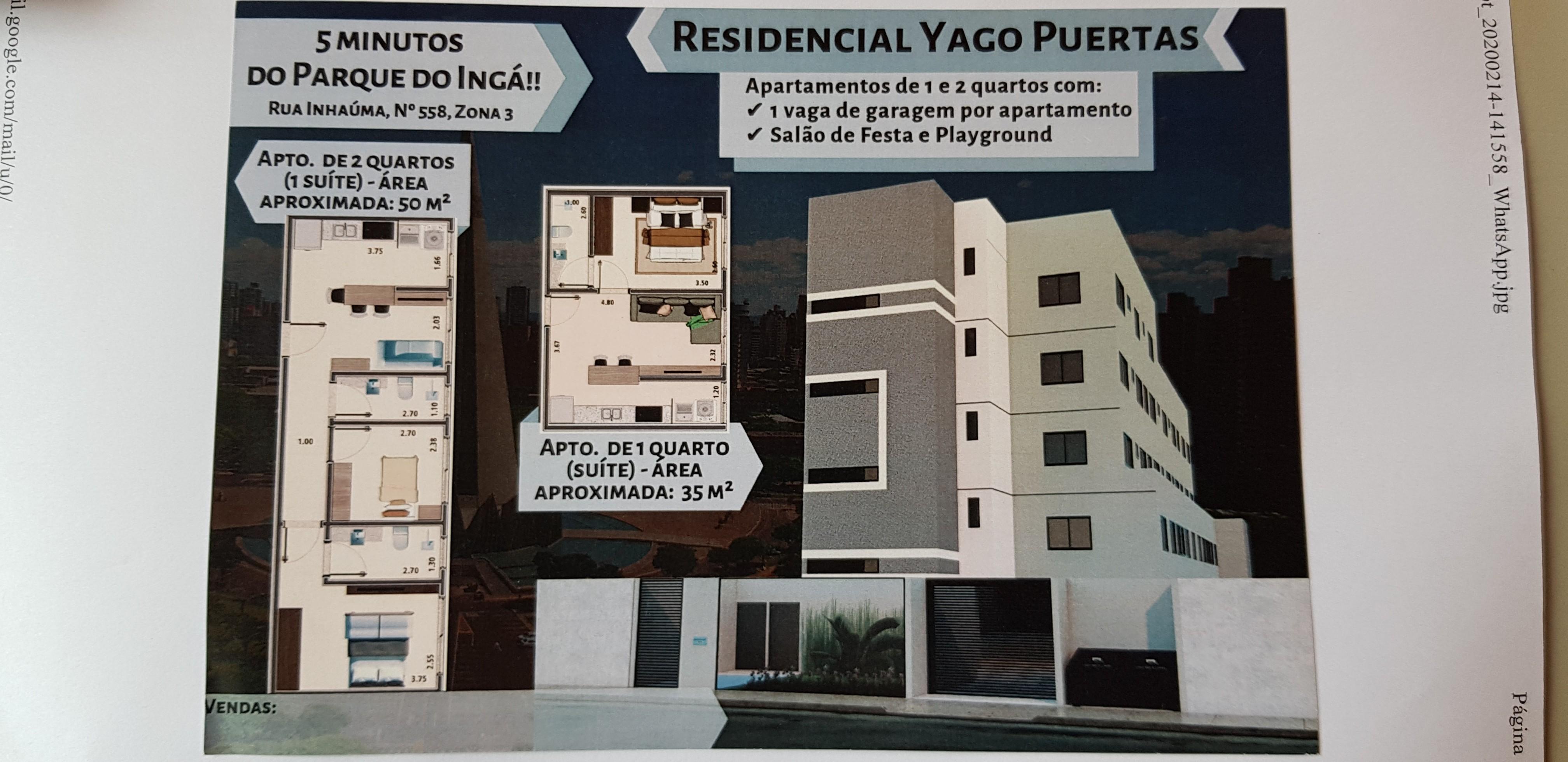 Maringá Paraná Zona3 Residencial Yago Puertas em construção entrega final de 2020