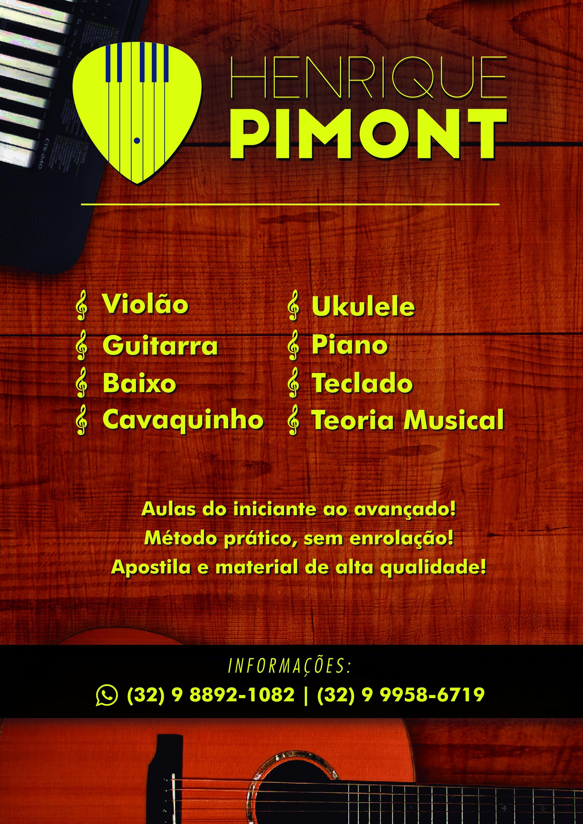 Aulas de violao, guitarra, baixo, teclado, piano, cavaquinho e ukulele