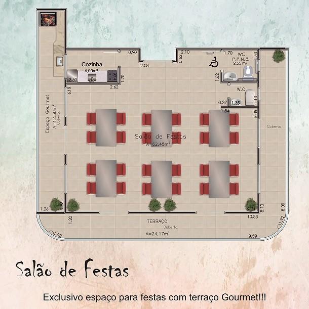 NB30 Pequena entrada para esse incrível apto de 02 dormitórios!!!