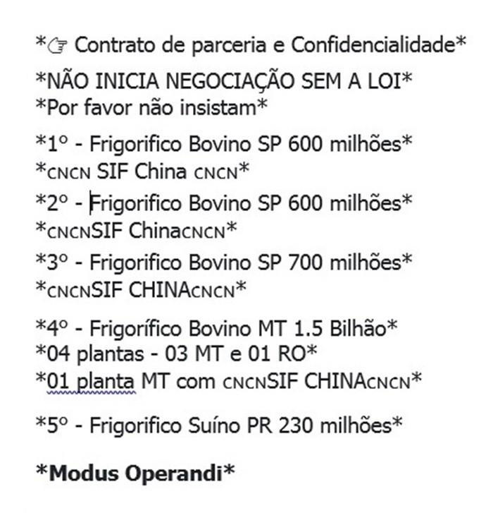 VENDO FRIGORÍFICOS DE BOVINOS, SUÍNOS, AVES E DEMAIS OPÇÕES.