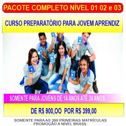 Curso Preparatório Jovem Aprendiz - Nível 01-02e03