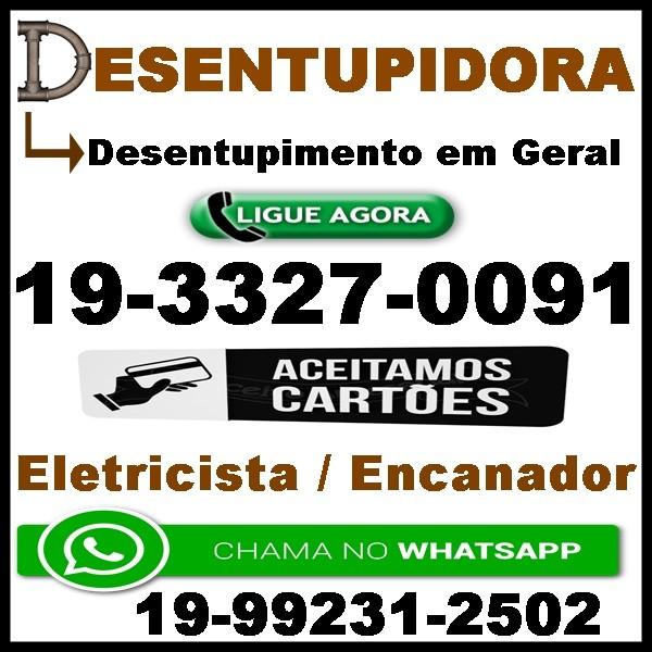 Desentupidora 33270091 no Jardim Flamboyant em Campinas