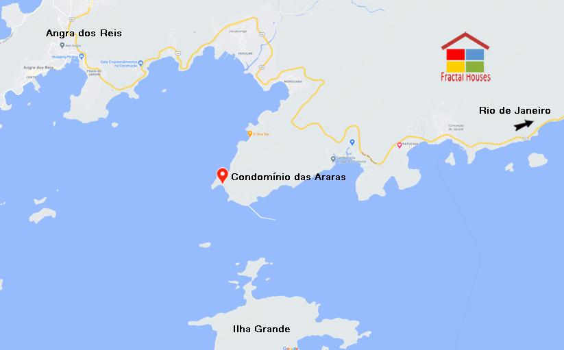 Propriedade a Beira-Mar com Super Visual Sobre O Mar De Angra