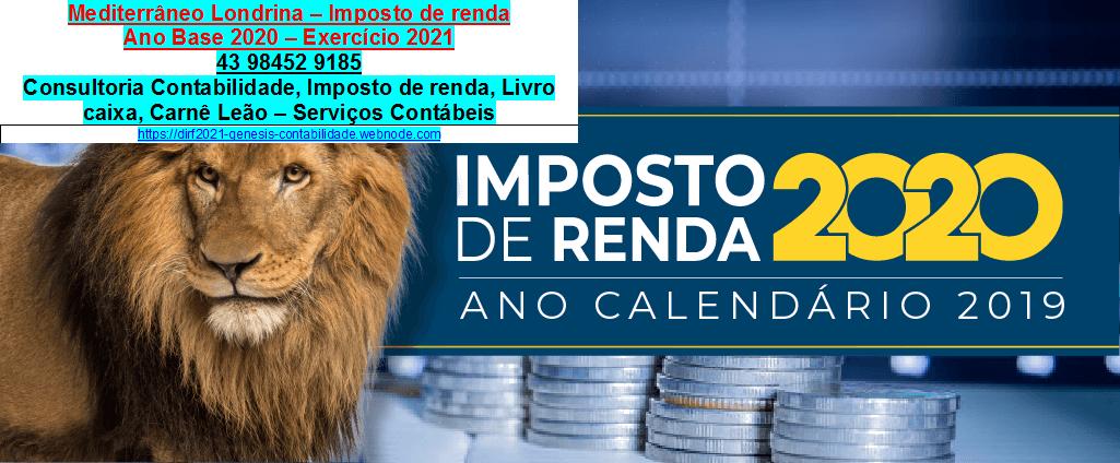 Av. rio de janeiro Londrina-2021-IRPF#Declaração IRPF