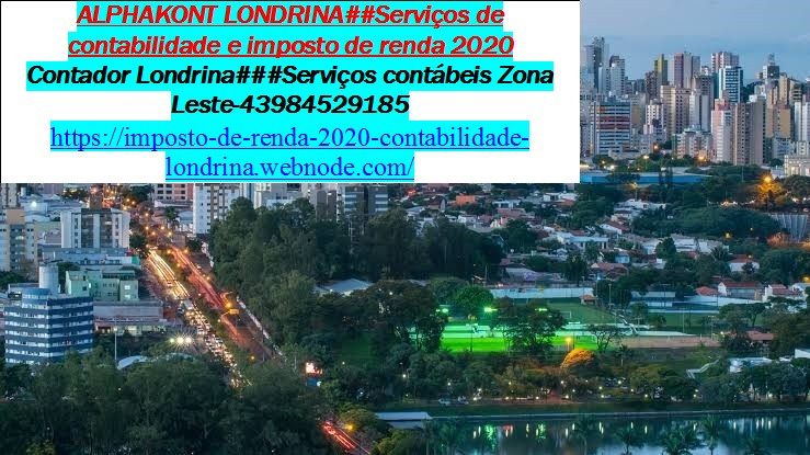 Contabilidade e Imposto de renda   Av Maringa Londrina Pr ...