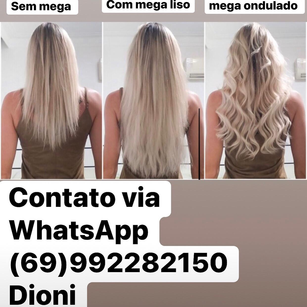 Mega hair / alongamento de cabelo