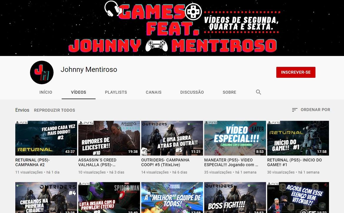 Canal Johnny Mentiroso Gamer