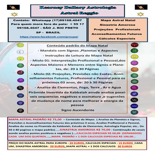 KEARNEY DALLARY ASTROLOGIA - Natal - Karmica - Sexual - Sinastria