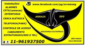 CFTV,ALARMES,TELEFONIA,INTERFONIA,CERCA ELETRICA,CONCERTINA,CONTROLE DE ACESSO.