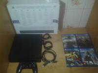Playstation 4 Modelo Slim Hd 500 Gigas Com 1 Controle e 4 Jogos