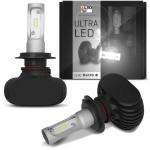 Par Lâmpadas Ultra LED H7 6000K 8000LM Efeito Xênon Aplicação Farol Carro com Reator