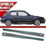 Par Spoiler Lateral Kadett 89 98 Preto Com Tela Aluminio