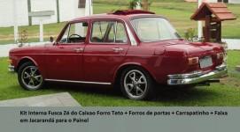 Forros Portas + Laterais Jacarandá + F. Teto Fusca Zé Caixão