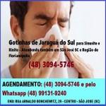 Em São José SC aplicação das Gotinhas de Jaraguá do Sul para Sinusite e Rinite