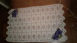 Tapete de croche tamanho médio 2 peças