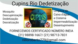 dedetizadora cupins Rio 21988981667