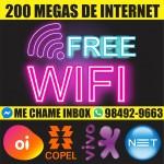 Internet de 200 mega com modem wifi UP
