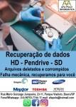 Recuperação de dados em HD, HD externo, pen drive, cartao SD, Bauru
