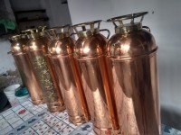 Mandaqui R$ 550 Lindo Extintor Antigo vazio de Cobre para Colecionador e Decoração
