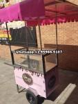 carrinho de bolo doces rosa de vidro