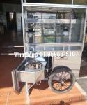 carrinho de pipoca vitrine alta fogareiro embutido lindo