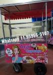 carrinho de açaí cupuaçu e sorvete de tapioca