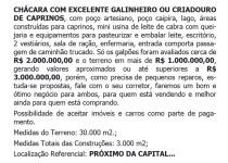 VENDO CHÁCARA COM CARACTERÍSTICAS IMPAR, CONFIRA!