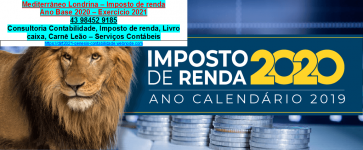 Recibo de pagamento autônomo RPA 2021 – Londrina
