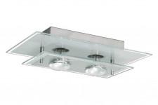 Luminária Plafon de Vidro para 02 Lâmpadas comuns (usada)