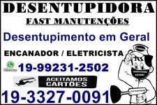 Desentupidora 33270091 no Parque Brasilia em Campinas ,