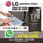 Troca de filtro e higienização de refrigerador