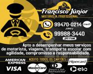 FRANCISCO JUNIOR-SERVIÇO DE MOTORISTA EM TERESINA-PIAUÍ