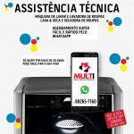 Assistência técnica para máquina de lavar roupas LG